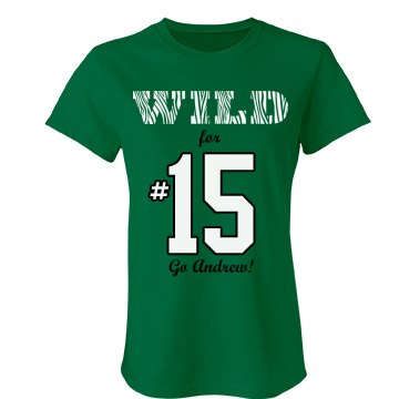 Wild For #15 Football Junior Fit Bella Favorite Tee