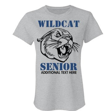 Wildcat Senior Mascot Junior Fit Bella Favorite Tee