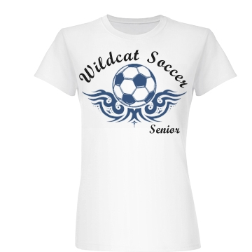 Wildcat Soccer Senior Junior Fit Basic Bella Favorite Tee