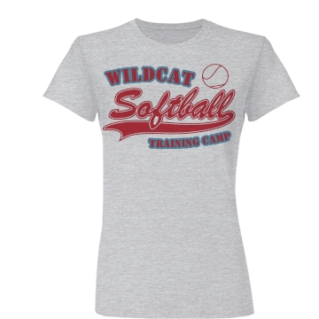 Wildcat Softball Camp Junior Fit Basic Bella Favorite Tee