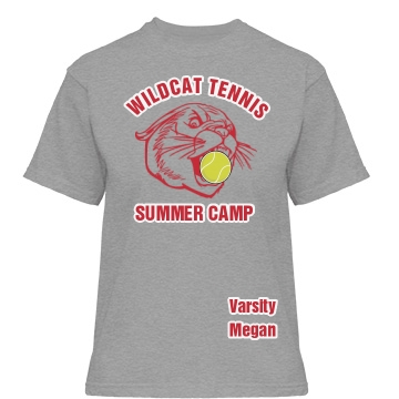 Wildcat Tennis Camp Misses Relaxed Fit Gildan Heavy Cotton Tee