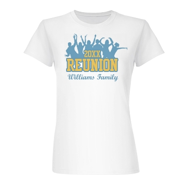 Williams Family Reunion Junior Fit Basic Bella Favorite Tee