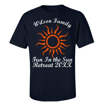 Wilson Family Retreat T Unisex Port & Company Essenti