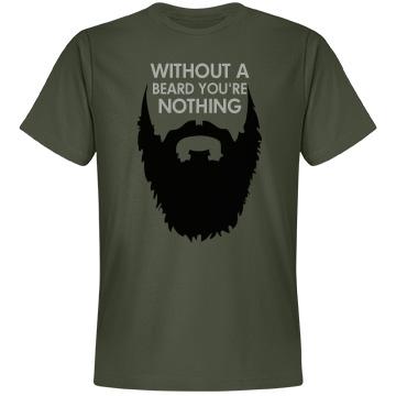Without A Beard Shirt Unisex Anvil Lightweight Fashion Tee
