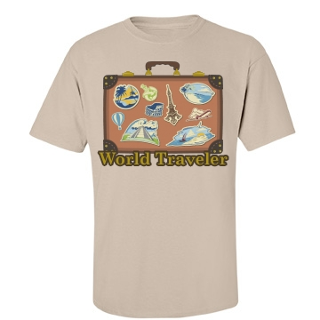 World Traveler Unisex Gildan Heavy Cotton Crew Neck Tee