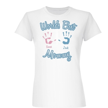 World's Best Mommy Junior Fit Basic Bella Favorite Tee