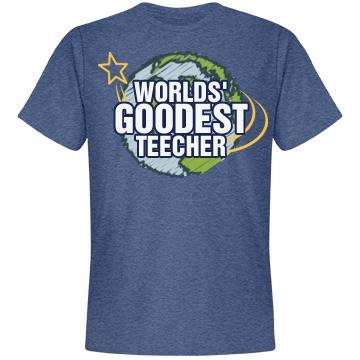 Worlds Goodest Teacher Unisex Anvil Lightweight Fashion Tee