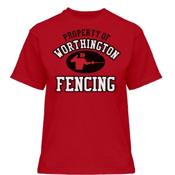 Worthington Fencing Misses Relaxed Fit Gildan Heavy Cotton Tee