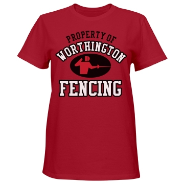 Worthington Fencing Misses Relaxed Fit Port & Company Essential Tee