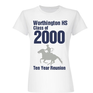Worthington Hs Reunion Junior Fit Basic Bella Favorite Tee