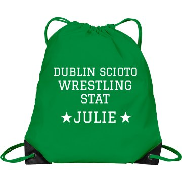 Wrestling Bag Port & Company Drawstring Cinch Bag