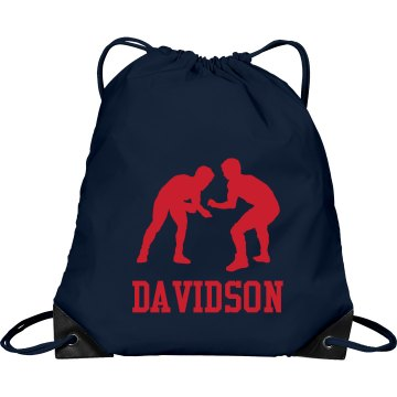 Wrestling Gear Bag Port & Company Drawstring Cinch Bag