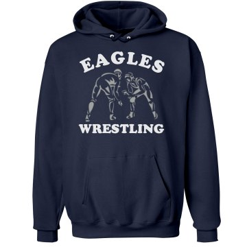 Wrestling Hoodie w/ Back Unisex Hanes Ultimate Cotton Heavyweight Hoodie