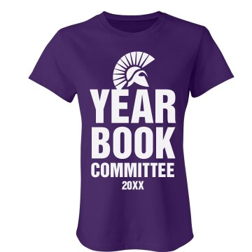 Yearbook Committee Junior Fit Bella Favorite Tee