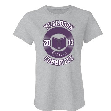 Yearbook Committee Tee Junior Fit Bella Favorite Tee