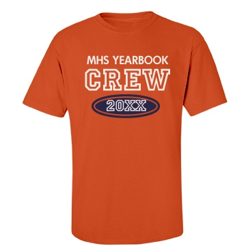 Yearbook Crew Add Year Unisex Port & Company Essential Tee