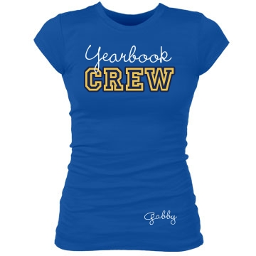 Yearbook Crew Tee Junior Fit Bella Sheer Longer Length Rib Tee