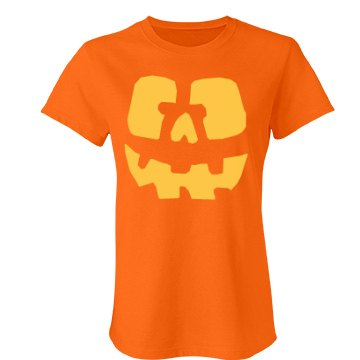 Yellow Jack O Lantern Junior Fit Bella Favorite Tee