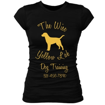 Yellow Lab Dog training Junior Fit Bella Sheer Longer Length Rib Tee