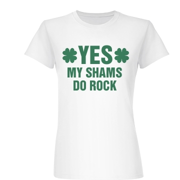 Yes, My Shams Do Rock Junior Fit Basic Bella Favorite Tee