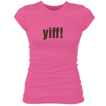 yiff! Junior Fit Bella Sheer Longer Length Rib Tee