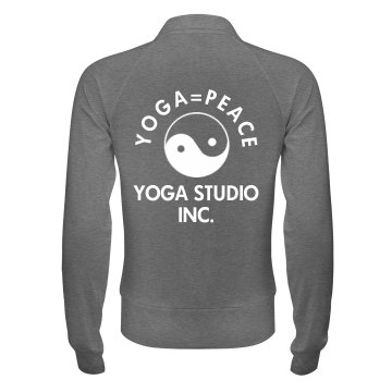 Yoga Is Peace Business Junior Fit Bella Cadet Full Zip Track Jacket
