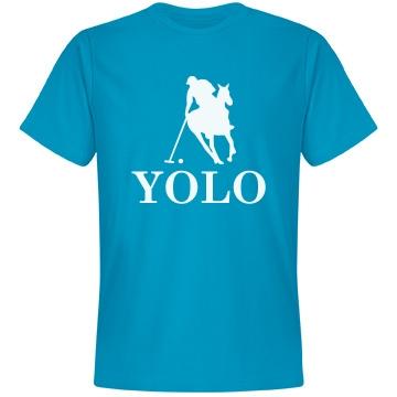 YOLO Polo Unisex Anvil Lightweight Fashion Tee