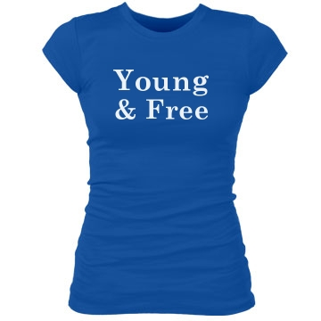 Young And Free Tee Junior Fit Bella Sheer Longer Length Rib Tee