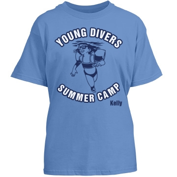 Young Divers Summer Camp Youth Gildan Heavy Cotton Crew Neck Tee