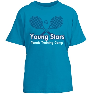 Young Stars Tennis Camp Youth Gildan Heavy Cotton Crew Neck Tee
