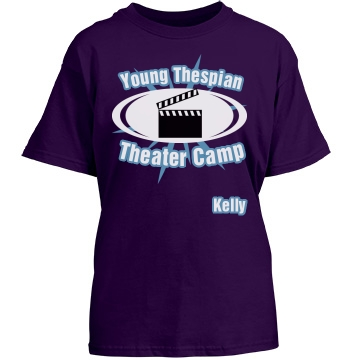 Young Thespian Theater Youth Gildan Heavy Cotton Crew Neck Tee