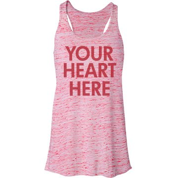 Your Heart Here Bella Flowy Lightweight Racerback Tank Top