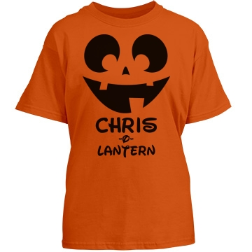 (Your Name)-O-Lantern Youth Port & Company Essential Tee