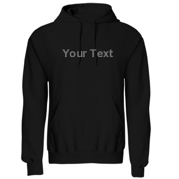 Your Rhinestone Text Unisex Gildan Heavy Blend Hoodie