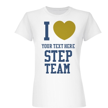 Your Text Here Gold Heart Junior Fit Basic Bella Favorite Tee
