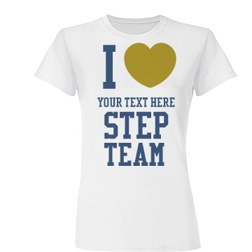 Your Text Here Gold Heart Junior Fit Basic Tultex