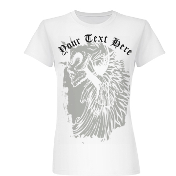 Your Text Here Skull Junior Fit Basic Bella Favorite Tee