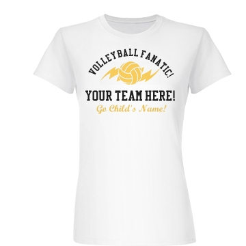 Your Volleyball Team Here Junior Fit Basic Bella Favorite Tee