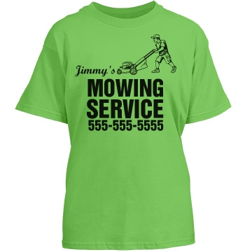 Youth Mowing Service Youth Gildan Heavy Cotton Crew Neck Tee
