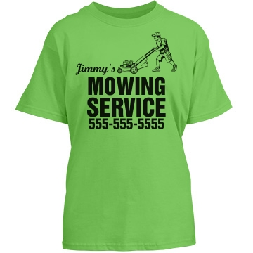 Youth Mowing Service Youth Port & Company Essential Tee