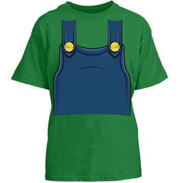 Youth Plumber Overalls Youth Gildan Heavy Cotton Crew Neck Tee