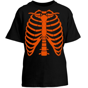 Youth Rib Cage Halloween Youth Port & Company Essential Tee