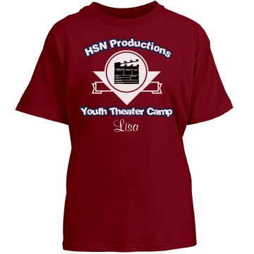 Youth Theater Camp Tee Youth Gildan Heavy Cotton Crew Neck Tee