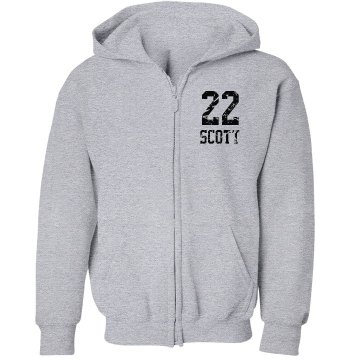 Youth Zip Hoodie w/ Back Youth Gildan Heavy Blend Full