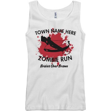 Zombie Run Brawn Junior Fit Basic Bella 2x1 Rib Tank Top