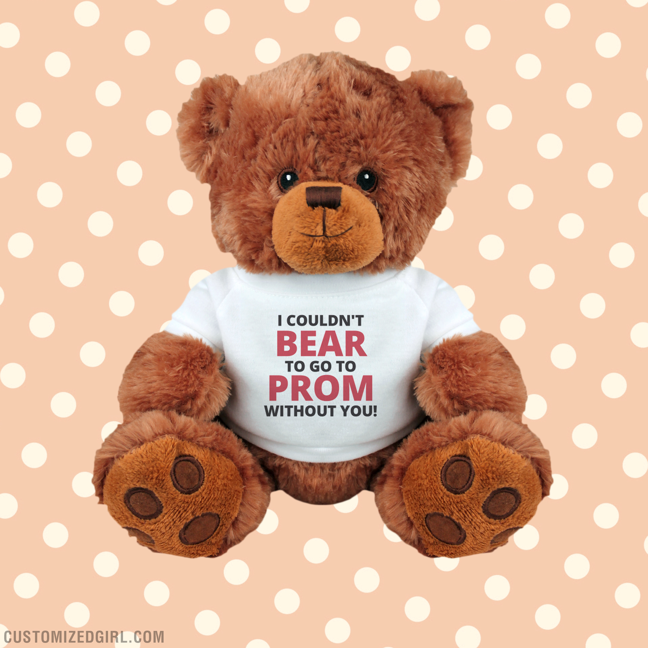 Promposal Bear Pun Teddy Bear