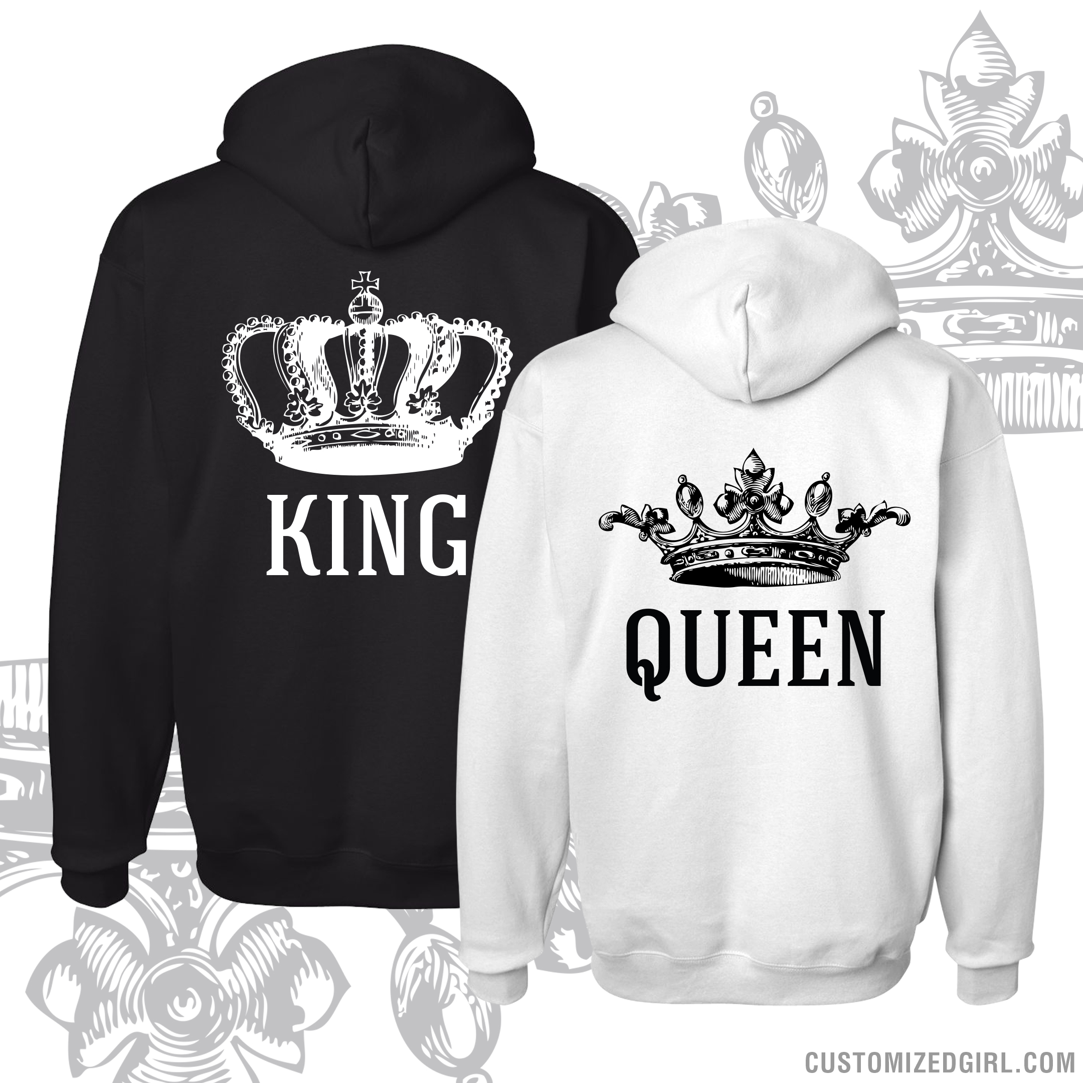 vintage king queen hoodies 1. Black Bedroom Furniture Sets. Home Design Ideas