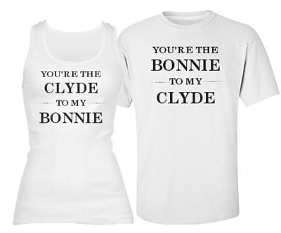 e207e0e9d0 Matching Couple Bonnie and Clyde Shirts - CustomizedGirl Blog