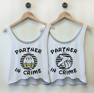 Partner In Crime Best Friend Shirts