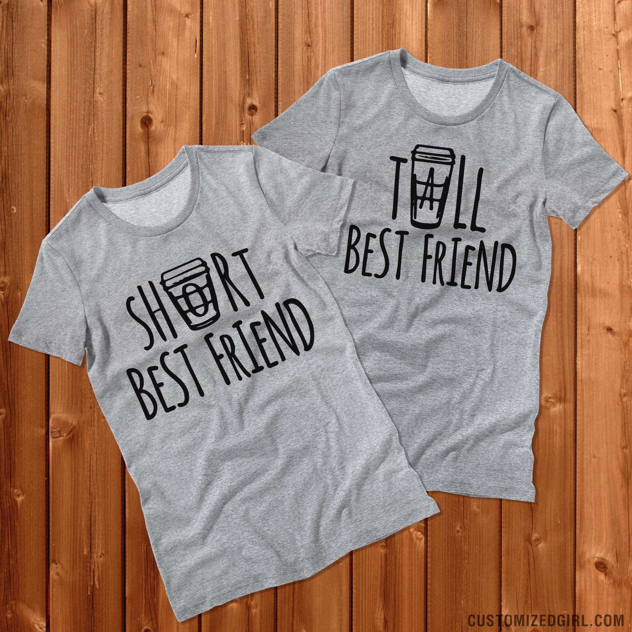 Short and Tall Best Friend Shirts